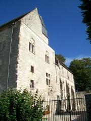 Ancien château Saint-Aubin - Français:   La façade orientale, depuis le petit jardin au sud.