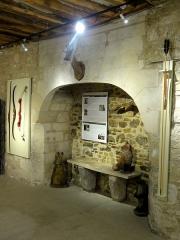 Ancien château Saint-Aubin - Français:   Aile ouest, rdc, cheminée.