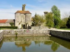 Restes du château -  Château de Montépilloy et mare-abreuvoir.