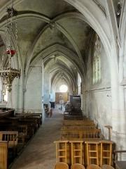 Eglise Notre-Dame de la Nativité - Français:   Collatéral, croisillon et bas-côté nord (au bout).