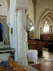 Eglise Notre-Dame de la Nativité - Français:   Croisée du transept, pilier nord-est.