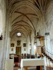 Eglise Notre-Dame de la Nativité - Français:   Nef; vue depuis la croisée du transept à l\'est.