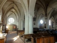 Eglise Notre-Dame de la Nativité - Français:   Nef; vue depuis l\'angle sud-est.