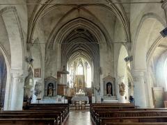 Eglise Notre-Dame de la Nativité - Français:   Vue générale intérieure depuis le portail occidental.