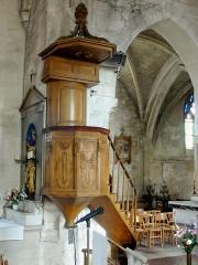 Eglise Notre-Dame de la Nativité - Français:   La chaire à prêcher.
