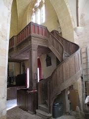 Eglise Saint-Crépin et Saint-Crépinien - Français:   Intérieur de l\'église Saint-Crépin-et-Saint-Crépinien de Saint-Crépin-Ibouvillers, tribune occidentale.