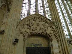 Eglise et chapelle - Français:   Abbaye Saint-Germer-de-Fly, Sainte chapelle: porte