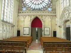 Eglise et chapelle - Français:   Abbaye Saint-Germer-de-Fly, Sainte chapelle: entrée