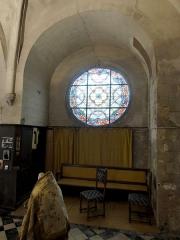 Eglise - Français:   Chœur nord, 1ère travée, niche côté nord.