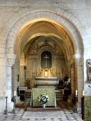 Eglise - Français:   Nef sud, arc triomphal, vue dans le chœur.