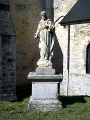 Ancienne abbaye Saint-Vincent - Français:   Statue de saint devant le chœur de l\'église Saint-Vincent.