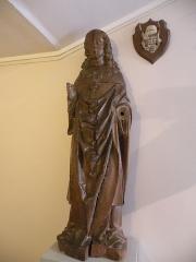 Ancien château royal, prieuré Saint-Maurice et mur gallo-romain - Français:   statue en bois de Louis XII en costume de sacre du XVIe siecle Musée de la Vénerie (Senlis)