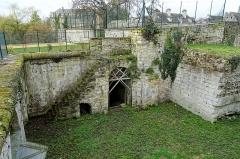 Enceinte gallo-romaine - Français:   Bastion de la porte de Meaux, construit après 1544 sous Jean-François de La Rocque de Roberval, vue intérieure vers l\'ouest.