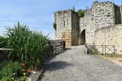 Ruines de l'ancien château et la butte sur laquelle elles sont situées - Français:   Porte Saint-Jean du chateau de Chateau-Thierry, Aisne, France