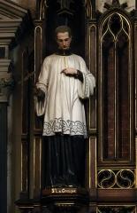 Basilique Notre-Dame - Français:   Statue de Saint Louis de Gonzague, basilique Notre-Dame de Liesse.