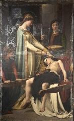 Hôtel de ville - Français:   Sainte Elisabeth de Hongrie soignant un blessé (1879)