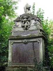 Cimetière de la Madeleine -  Amiens (Somme, France) -  Au cimetière de La Madeleine, la tombe PAUL-BARBIER.   Le sommet du monument est orné d'une imitation du célèbre