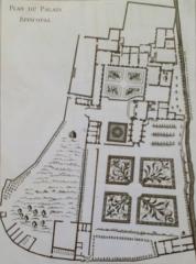 Ancien évéché - Français:   Plan du palais et du parc de l'évêché d\'Amiens au XVIIIe siècle 1