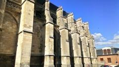 Ancienne abbaye - Abbatiale Saint-Pierre de Corbie, façade méridionale (1)