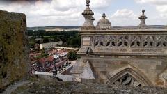 Eglise Saint-Pierre (ancienne abbatiale) - Abbatiale Saint-Pierre de Corbie extérieur, sommet de la tour nord 1