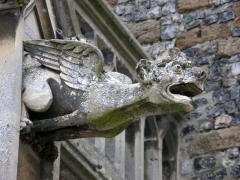 Eglise Saint-Martin -  Saint-Valery-sur-Somme (Somme, France).   Une des gargouilles de l'église Saint-Martin.