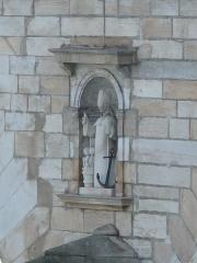 Pont Saint-Laurent, sur la Saône - English: Statue of Saint-Nicolas on the upstream and western side on the Saint-Laurent bridge in Macon (Saône-et-Loire, France).