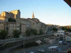 Eglise Saint-Pierre -  Vue générale de la ville de Joyeuse, département de l'Ardèche.