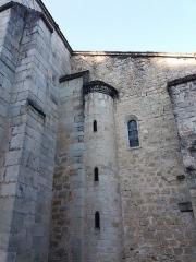 Eglise Notre-Dame-des-Pommiers - Français:   Tour d\'escalier côté façade.