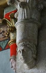 Eglise Notre-Dame-des-Pommiers - Français:   Largentière - Église Notre-Dame-des-Pommiers - Culots près de l\'abside
