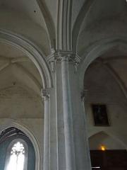 Eglise Notre-Dame-des-Pommiers - Français:   Largentière - Église Notre-Dame-des-Pommiers - Pilier de la nef centrale