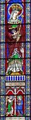 Eglise Notre-Dame-des-Pommiers - Français:   Largentière - Église Notre-Dame-des-Pommiers - Vitrail