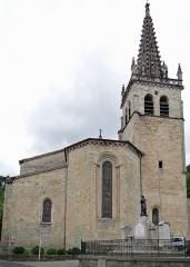 Eglise Notre-Dame-des-Pommiers - Français:   Largentière - Église Notre-Dame-des-Pommiers - Chevet et clocher