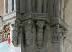Eglise Notre-Dame-des-Pommiers - Français:   Largentière - Église Notre-Dame-des-Pommiers - Culots des ogives de la croisée du transept près de l\'abside