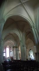 Eglise Notre-Dame-des-Pommiers - Français:   Église Notre-Dame-des-Pommiers (Largentière) - Ardèche - Vue de la nef