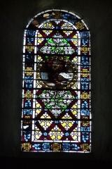 Ancienne cathédrale, actuellement Eglise Notre-Dame - Deutsch: Bleiglasfenster in der Kathedrale Notre-Dame in Die, Darstellung: Löwe als Symbol für den Evangelisten Markus