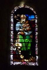 Ancienne cathédrale, actuellement Eglise Notre-Dame - Deutsch: Bleiglasfenster in der Kathedrale Notre-Dame in Die, Darstellung: hl. Joseph und Kind