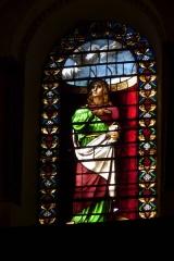 Ancienne cathédrale, actuellement Eglise Notre-Dame - Deutsch: Bleiglasfenster in der Kathedrale Notre-Dame in Die, Darstellung: Apostel Johannes