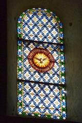 Ancienne cathédrale, actuellement Eglise Notre-Dame - Deutsch: Bleiglasfenster in der Kathedrale Notre-Dame in Die, Darstellung: Taube als Symbol des Hl. Geistes