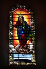 Ancienne cathédrale, actuellement Eglise Notre-Dame - Deutsch: Bleiglasfenster in der Kathedrale Notre-Dame in Die, Darstellung: Mariä Himmelfahrt
