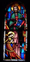Eglise Saint-Jean - Deutsch: Bleiglasfenster in der Kirche Saint-Jean-Baptiste in Valence, Darstellung: hl.?, Signatur: