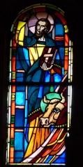 Eglise Saint-Jean - Deutsch: Bleiglasfenster in der Kirche Saint-Jean-Baptiste in Valence, Darstellung: Evangelist Lukas