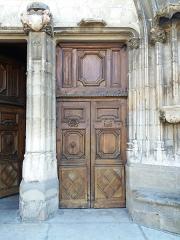 Eglise Saint-Theudère - Français:   Porte principale droite.
