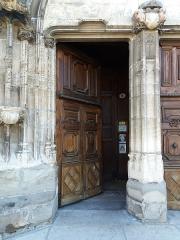 Eglise Saint-Theudère - Français:   Porte principale gauche.