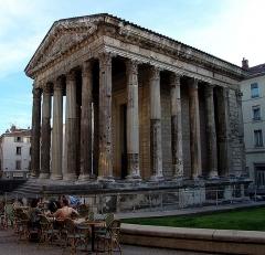 Temple d'Auguste et de Livie - English: Temple of Augustus and Livia in Vienne