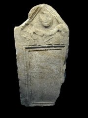 Ancien évêché - English: Tombstone of Gaius Papius Secundus, a decurion of Vienne (just south of Lyon, France) who died at age forty, and of his ten-year-old son, Secundanus. The inscription is from Secundus' wife. CIL XII, 2246. For a full description, see the page for Milky's original image: http://commons.wikimedia.org/wiki/File%3AMus%C3%A9e_anchien_%C3%A9v%C3%A9ch%C3%A9_-7-_Grenoble.JPG