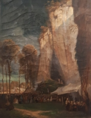 Ancien évêché - English: Théodore Ravanat, Foire des Balmes de Fontaine 1845  Musée de l'ancien évéché