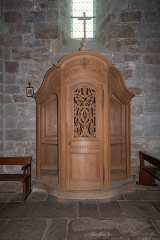 Prieuré - English:  One of the two confessionals from 1727.