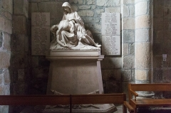 Prieuré - English:  As in many villages only Catholics, the war memorial is located in the parish church.