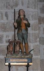 Prieuré - English:  Statue of Saint Isidore patron saint of farmers.