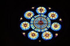 Eglise Saint-Philibert - Deutsch: Rosette in der Kirche Saint-Philibert in Charlieu